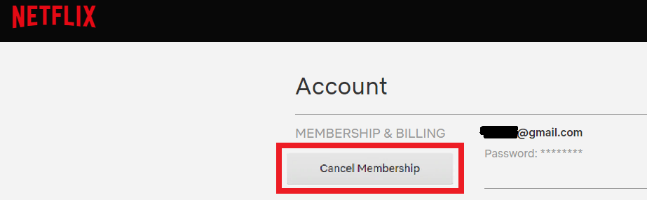 Cancelar suscripción Netflix