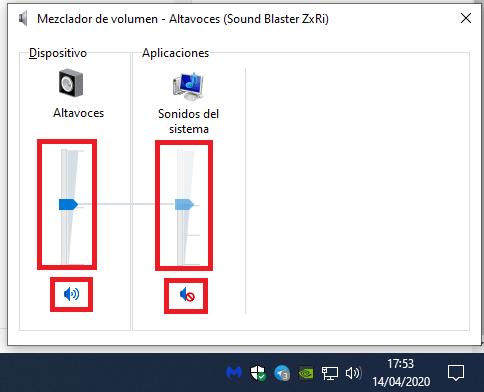 volumen sonido windows
