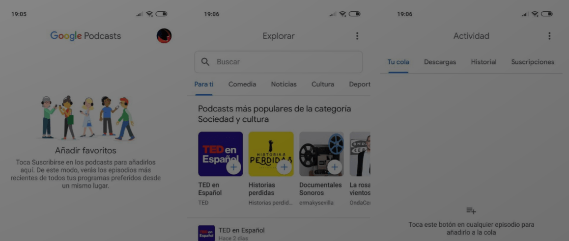 Google Podcasts Android iOS