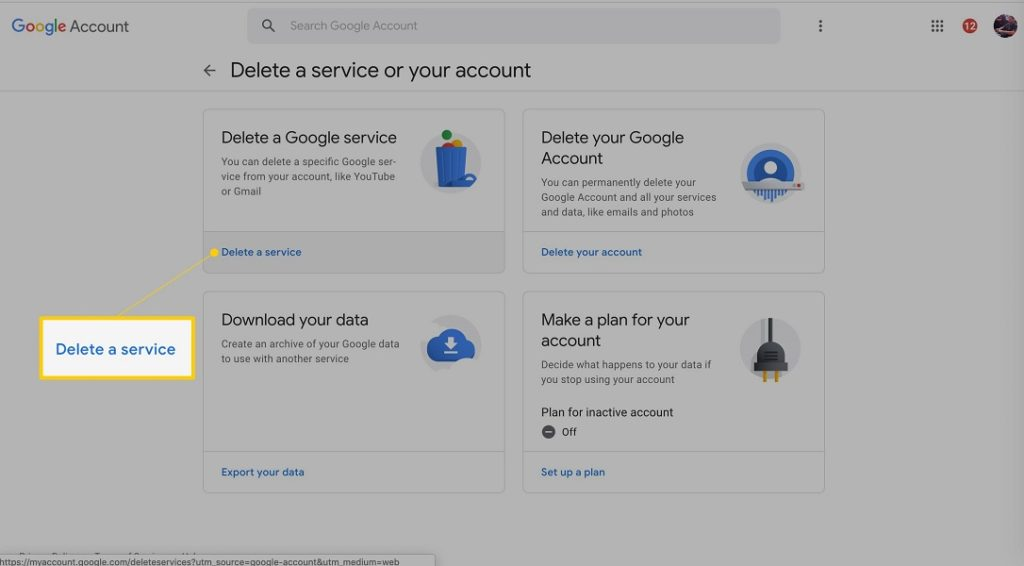 Dar de baja Gmail 2