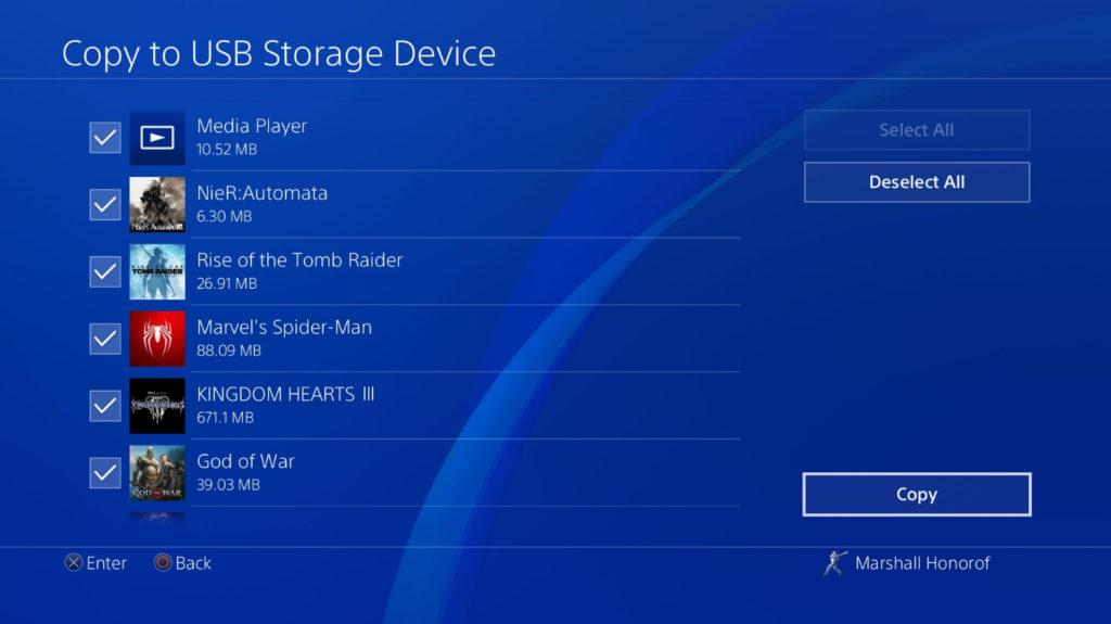 Datos juegos guardados PS4 3