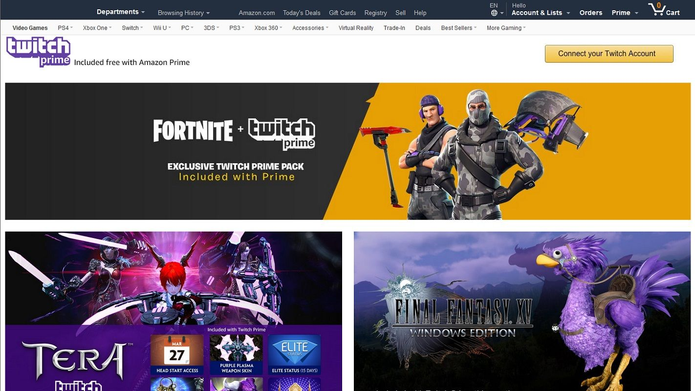 Desconectar Twitch Amazon 1