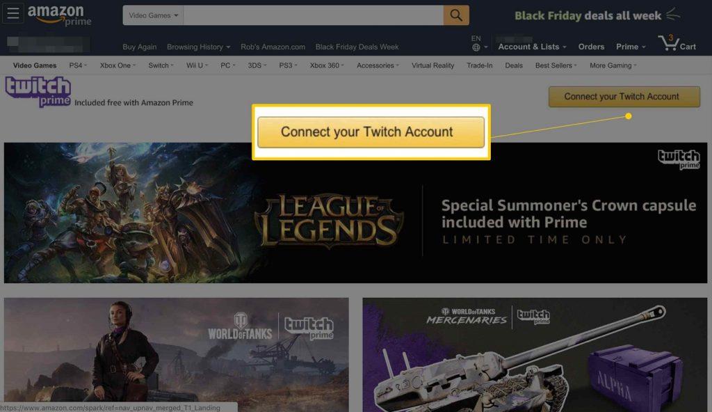 Desconectar Twitch Amazon 3
