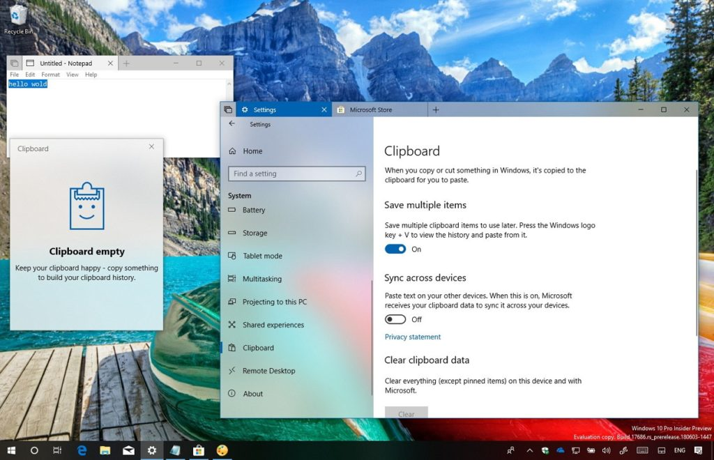Limpiar historial portapapeles Windows 10 2