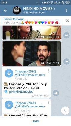 descargar películas Telegram fácilmente