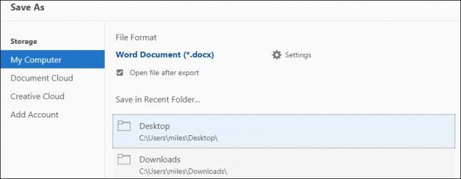 documento PDF Microsoft Word
