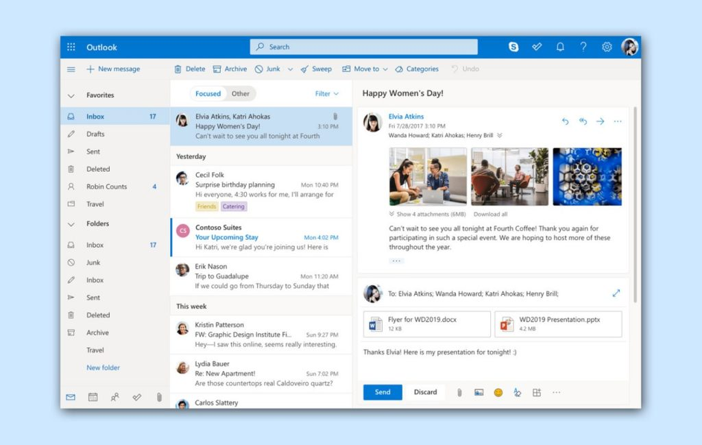 Accesibilidad Outlook 3