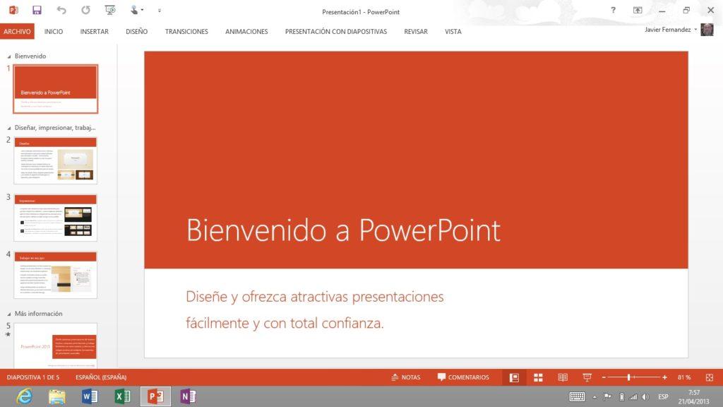 Efecto desaparición PowerPoint 2