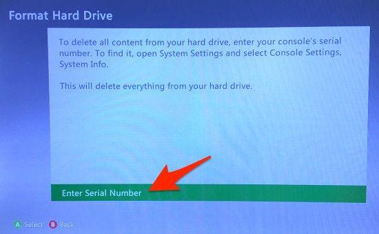 Formatear disco duro xbox