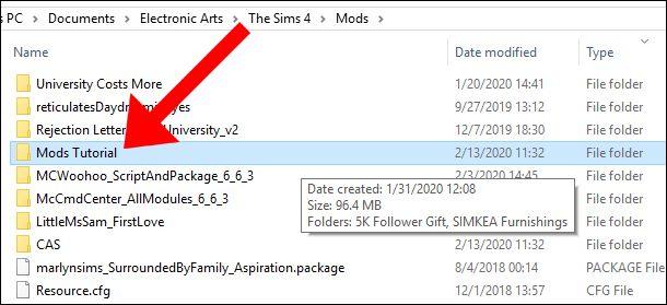 mods dañados Sims 4