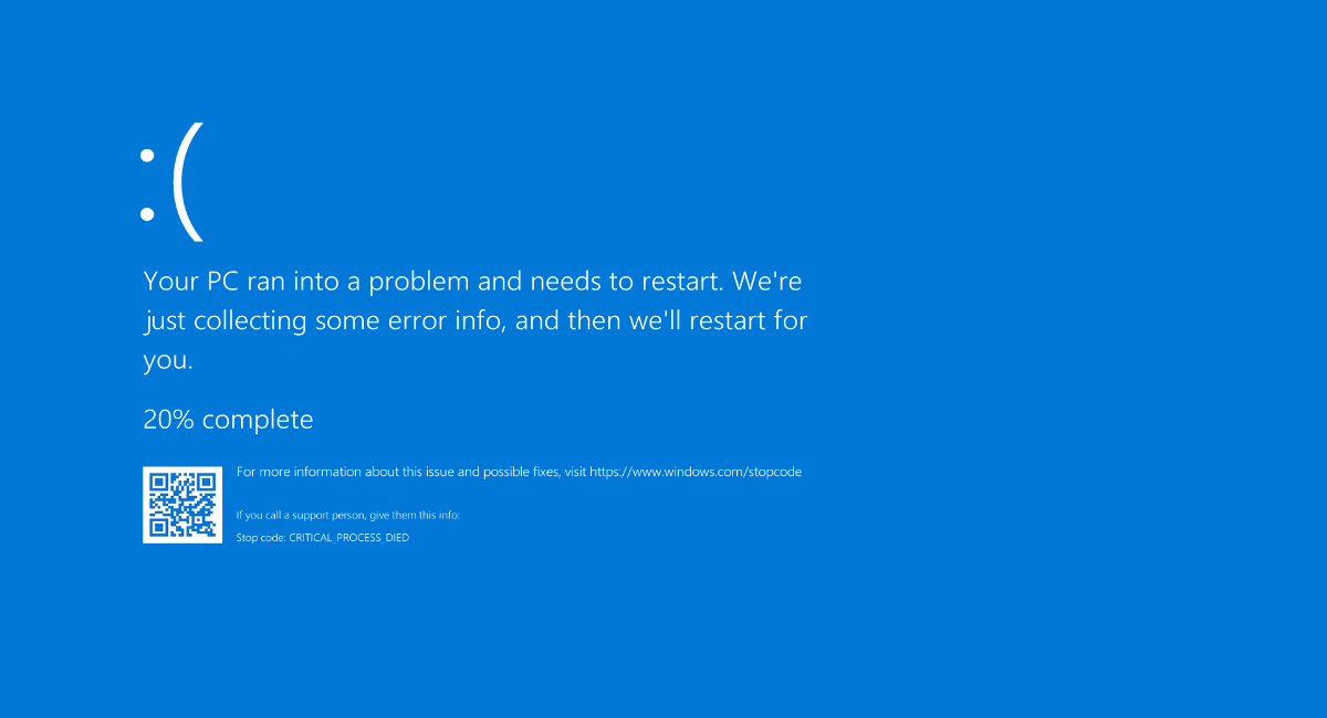 pantalla azul de la muerte