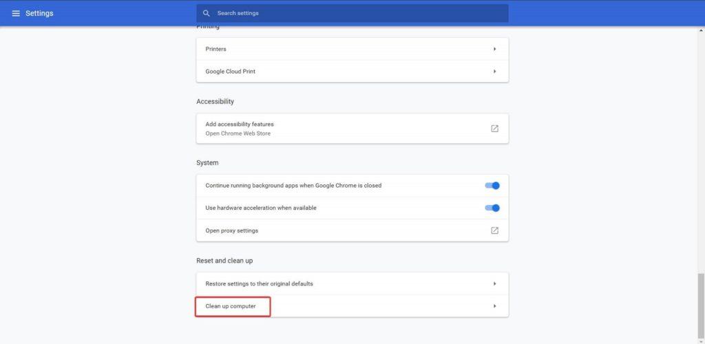 Descarga bloqueada error red Chrome 2