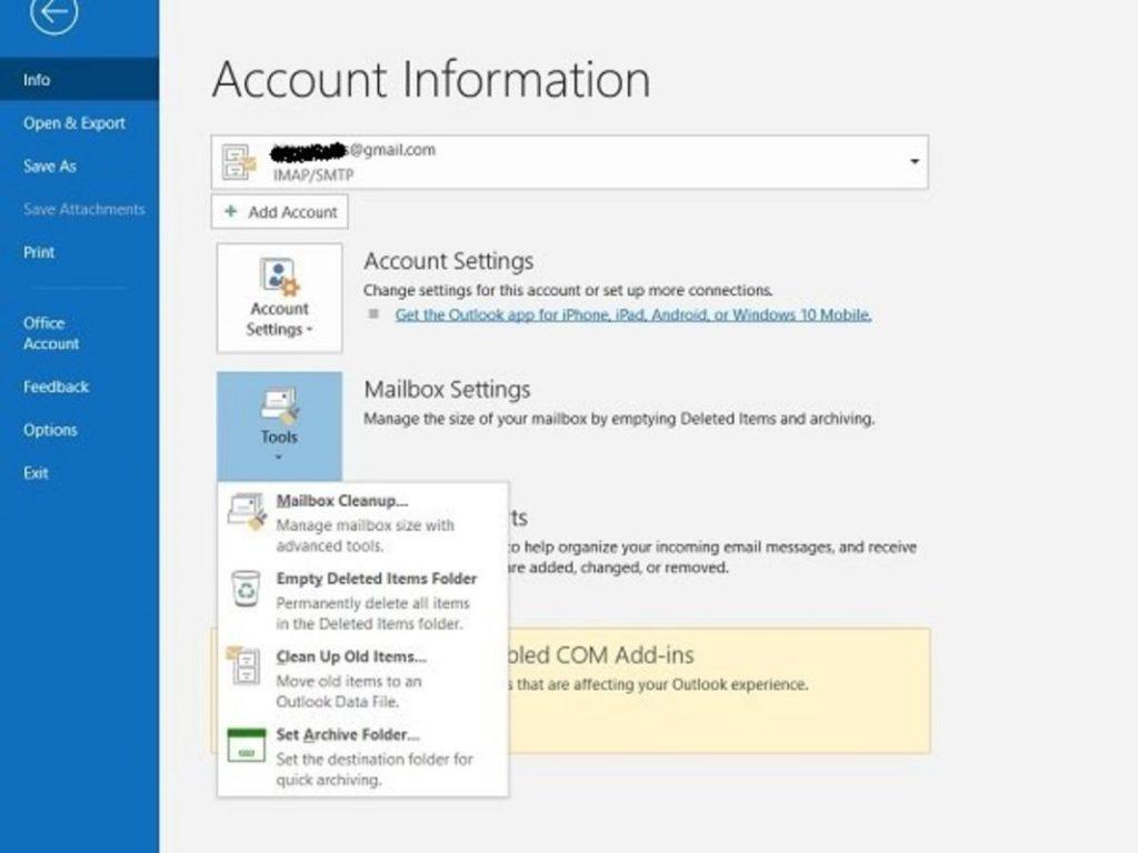 Solucionar error Outlook 17884 1