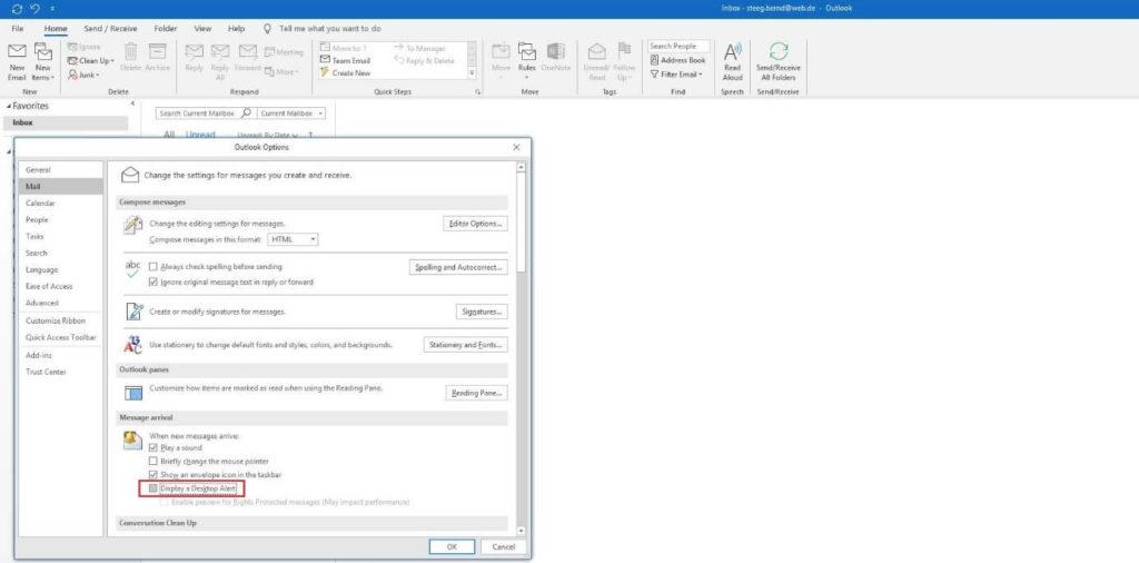 error 0x80004005 Outlook 3