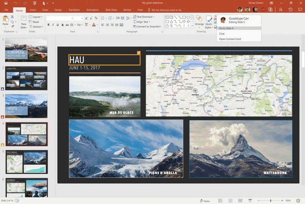 Colaborar presentación PowerPoint 4