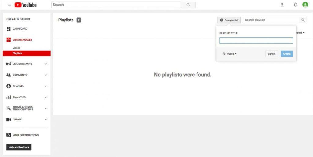 Lista de reproducción YouTube 1,5