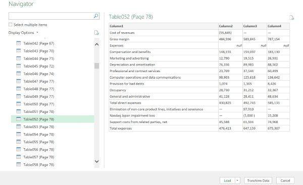 Importar PDF a Excel