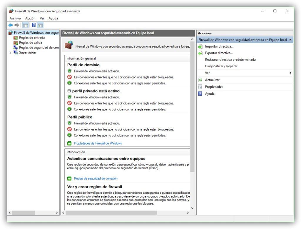 Bloquear software firewall 2
