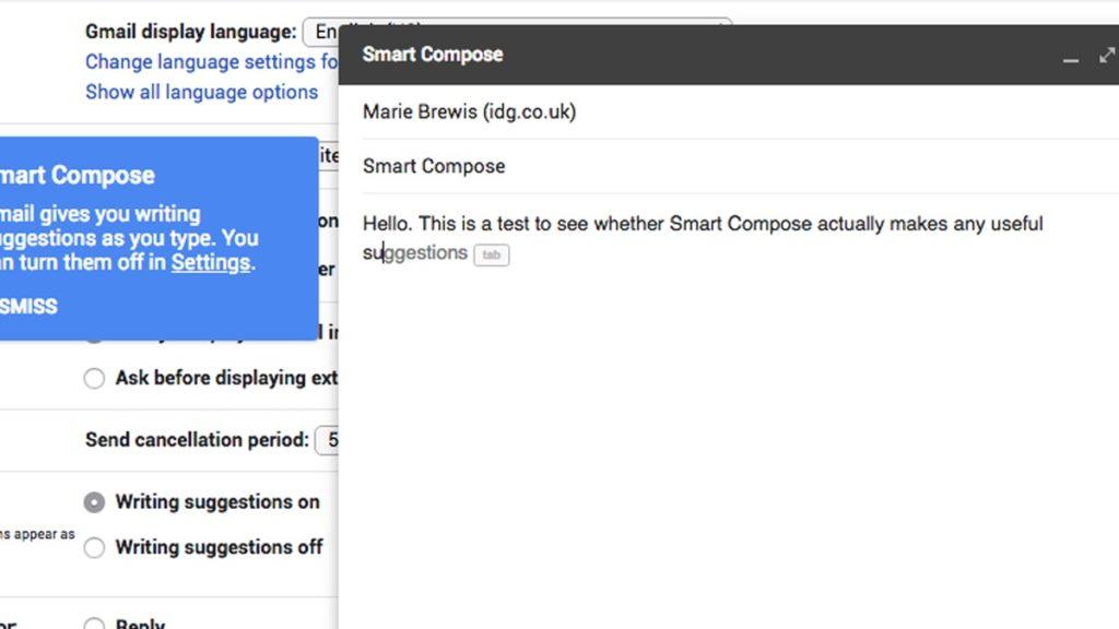 Escribir rápido Gmail 3