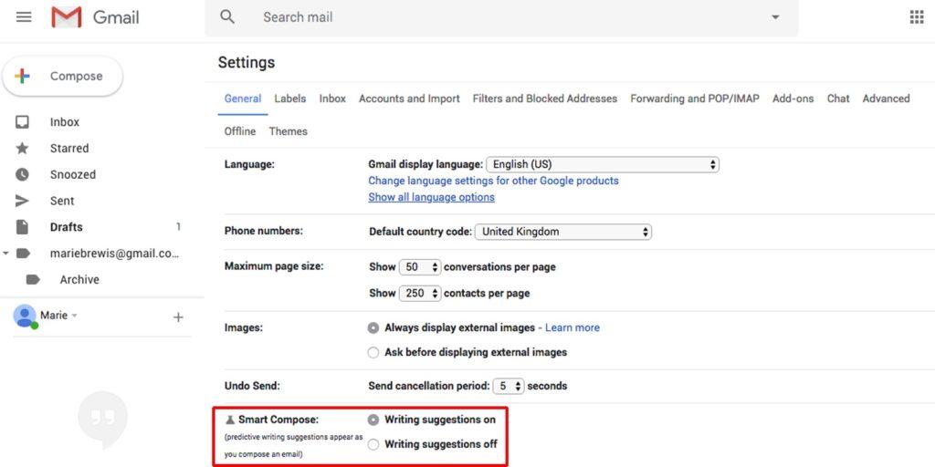 Gmail atajos 2,5