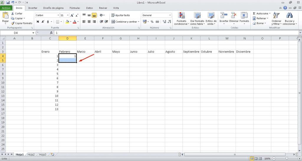 Rellenar datos secuenciales 1