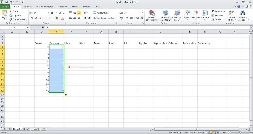 Rellenar datos secuenciales 2
