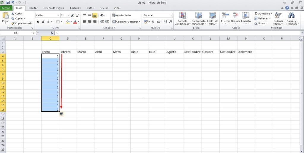 Rellenar datos secuenciales 3