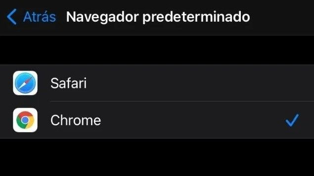 Como cambiar navegador predeterminado iphone