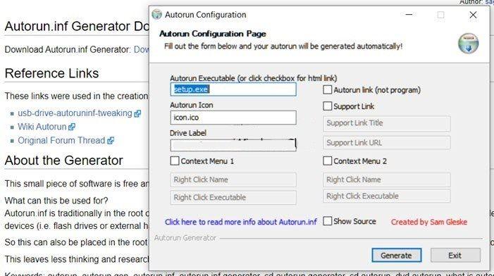 Cómo crear archivo de ejecución automática en USB, DVD o CD