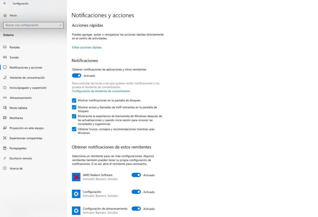 Desactivar o deshabilitar notificaciones de apps en la tienda de Windows 10