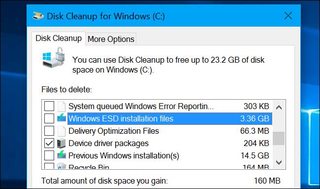 es seguro usar el liberador de espacio en el disco de Windows 10