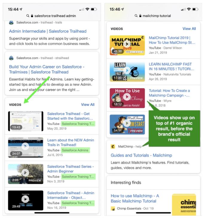 como hacer que mis vídeos de YouTube aparezcan en el carrusel de vídeos de Google