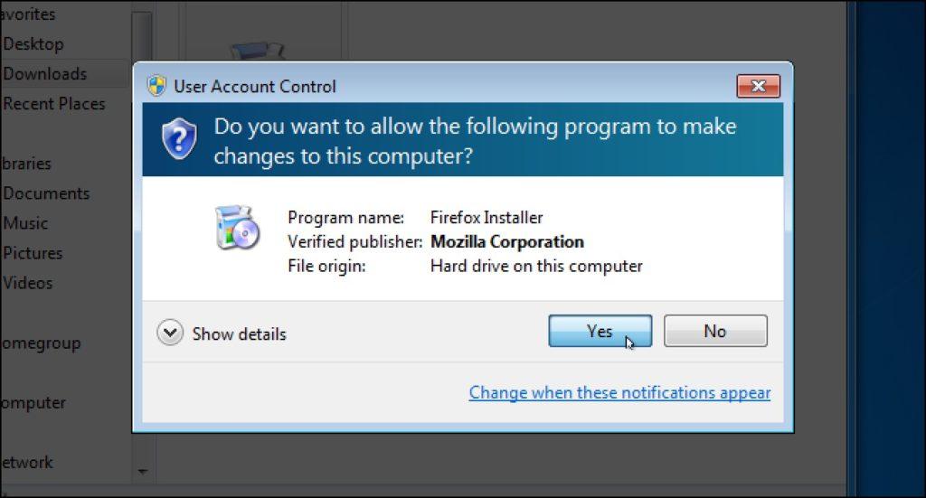 Activar UAC Windows 2