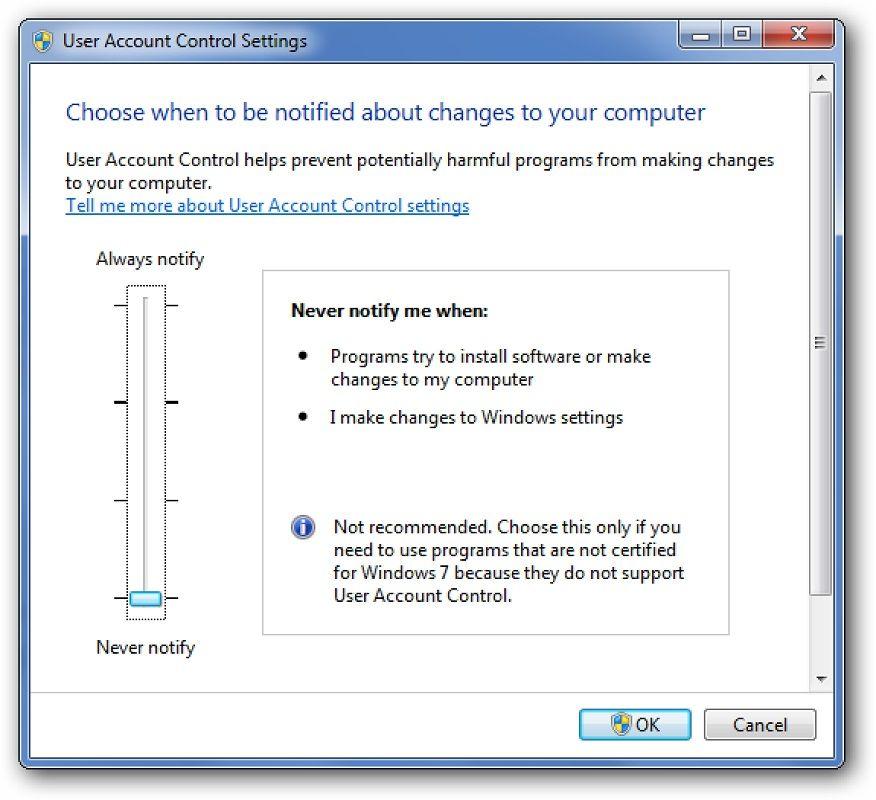 Activar UAC Windows 3