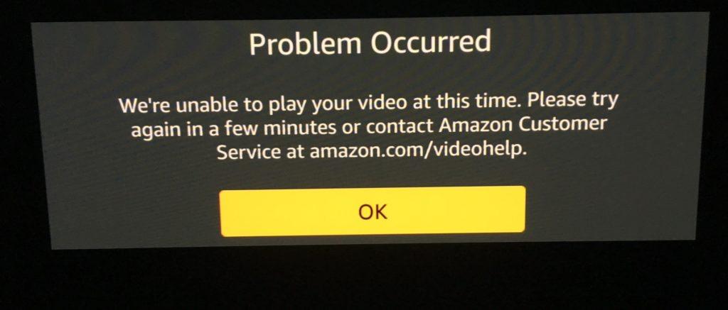 Amazon Prime Video error 2