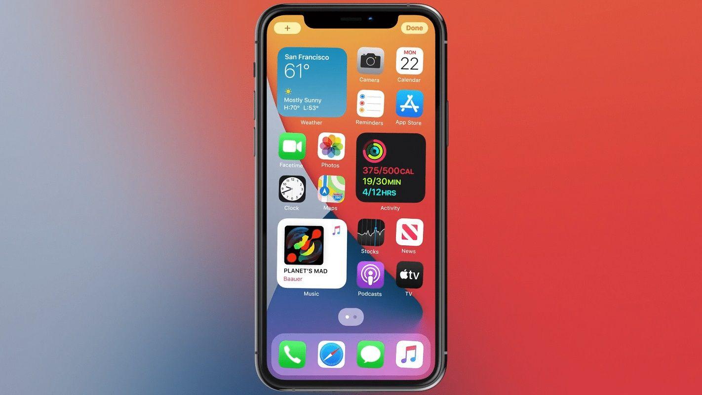 Desplazarse páginas inicio iOS 1