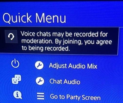 ps4 mensaje grabación