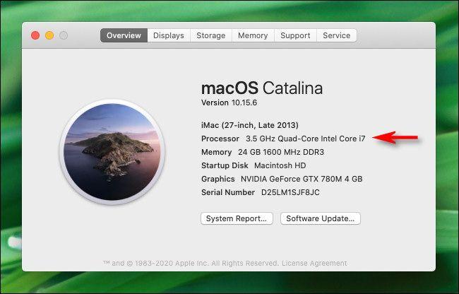 cómo averiguar o saber qué CPU tiene mi Mac