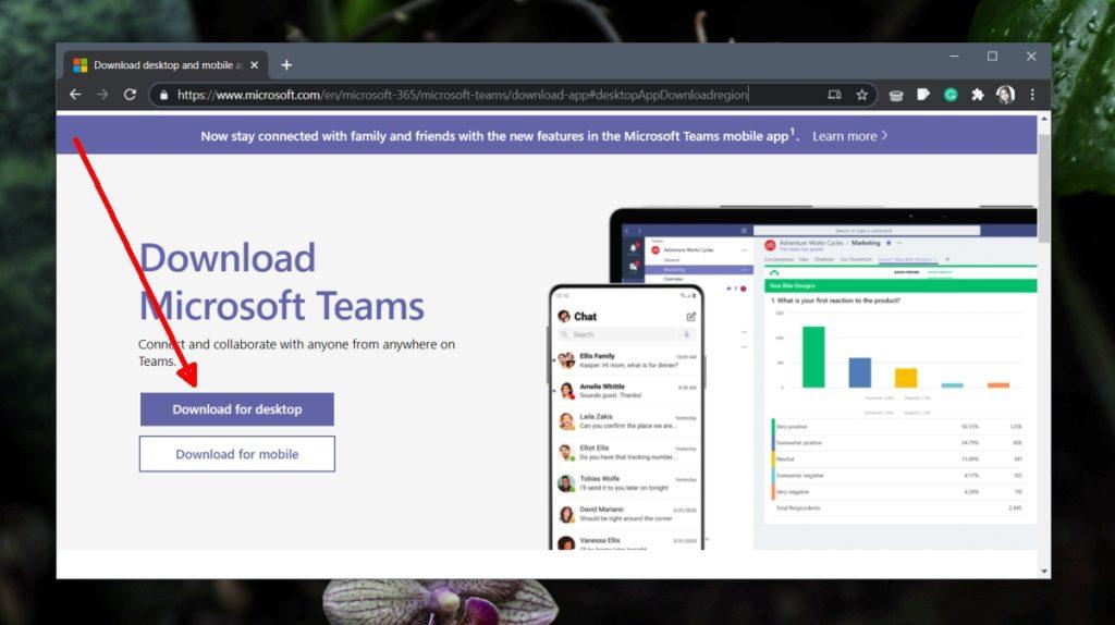 Descargar e instalar Microsoft Teams en Windows 10