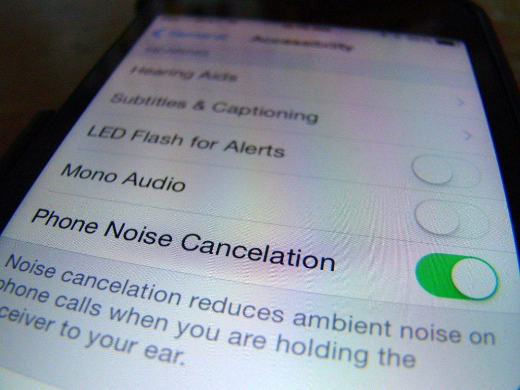 deshabilitar cancelación ruido iPhone 2