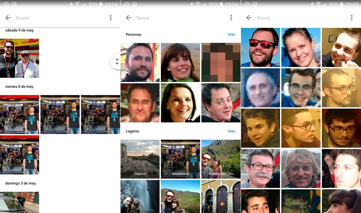 activar desactivar reconocimiento facial google photos