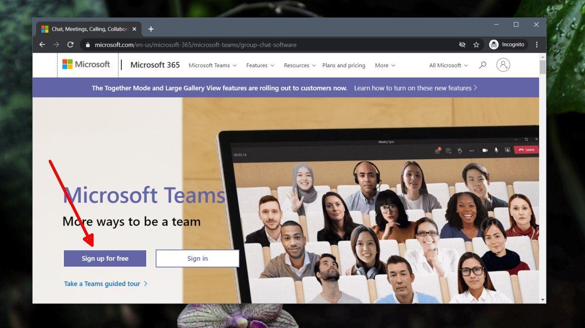 como instalar y usar Microsoft Teams en Windows 10