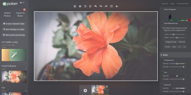 programas o software de edición de fotos gratuito