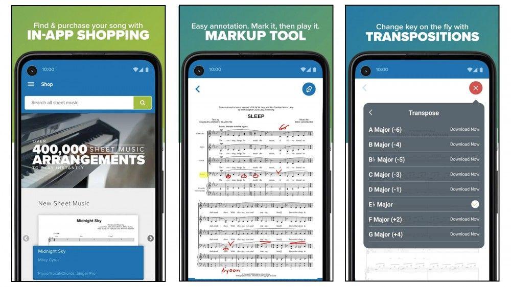 apps de partituras digitales gratuitas