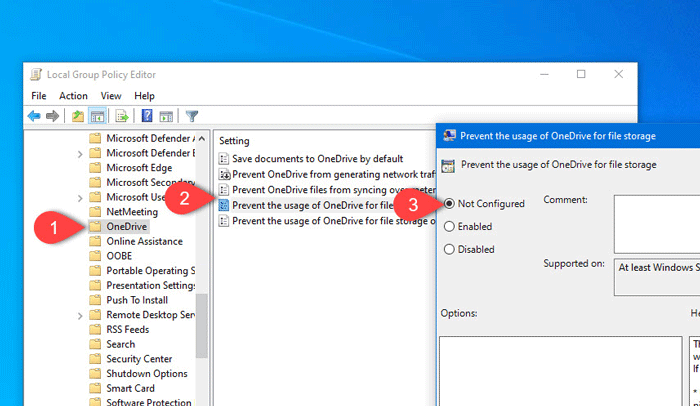Por que OneDrive no inicia Windows