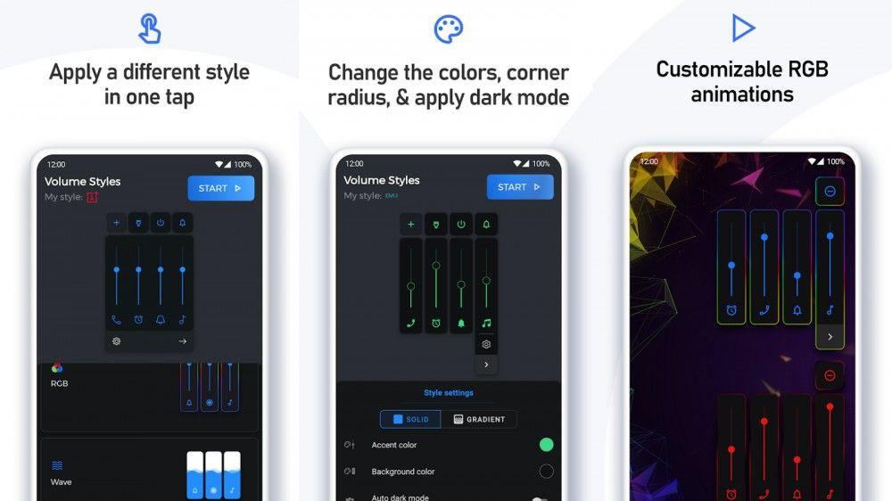 personalización de los controles de volumen