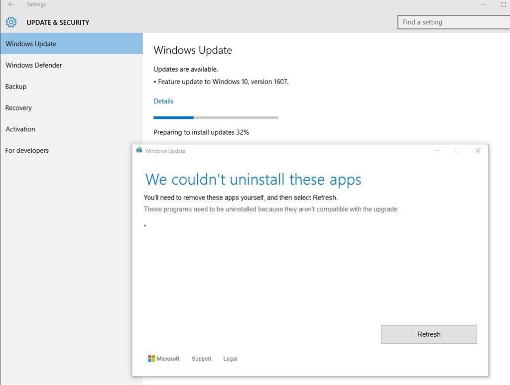 Les applications désinstallées renvoient Windows 3