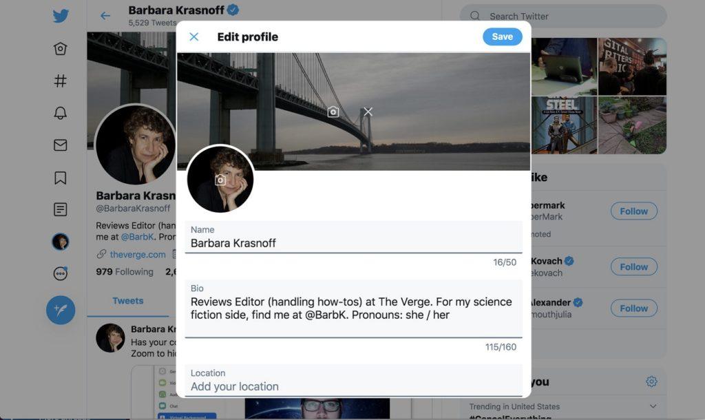 Cambiar nombre mostrar Twitter 2