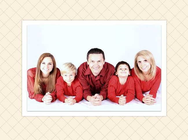 Family template for photos with our loved ones