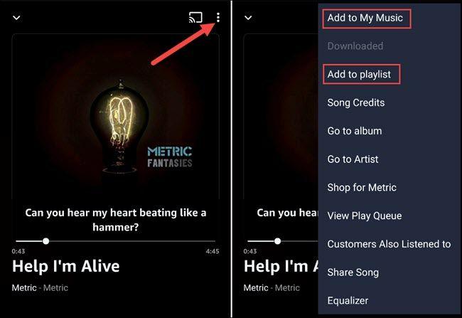 Comment enregistrer des chansons et créer des listes de lecture avec Amazon Prime Music